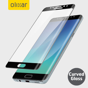 Keep your Samsung Galaxy Note 7's screen in pristine condition with this Olixar Tempered Glass screen protector, designed to cover and protect even the curved edges of the phone's unique display. Black edges match the black phone perfectly.