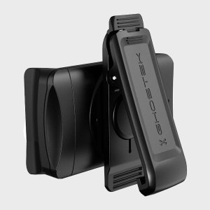 With the ability to expand up to 85.79mm, enough to secure even the largest of modern smartphones, the universal yet, compact rotating belt clip from Ghostek can be easily adjusted to fit your belt, pocket or bag.