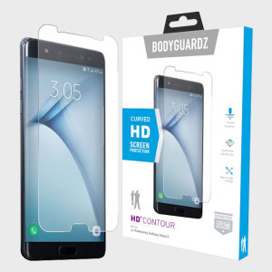 Keep your Samsung Galaxy Note 7 safe and secure this ultra tough HD Contour screen protector from BodyGuardz which is made from the same material used to shield the front of vehicles from rock chips.