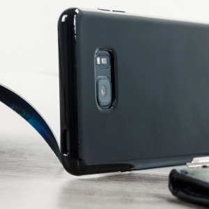 Custom moulded for the Samsung Galaxy Note 7. This solid black Olixar FlexiShield case provides a slim fitting stylish design and durable protection against damage, keeping your device looking great at all times.