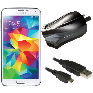 Charge your Samsung Galaxy S5 and any other USB device quickly and conveniently with this compatible 2.4A high power micro USB Australian charging kit. Featuring an AUS wall adapter and a micro USB cable.