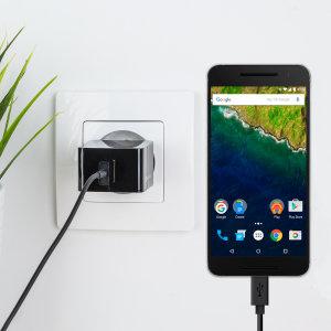 Laad je Google Nexus 6P en elk ander USB apparaat snel en gemakkelijk op met deze 2.4A hoog vermogen USB-C Europa charging set. Met Europa adapter en USB-C kabel.
