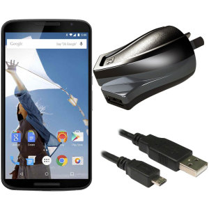 Charge your Google Nexus 6 and any other USB device quickly and conveniently with this compatible 2.4A high power micro USB Australian charging kit. Featuring an AUS wall adapter and a micro USB cable.
