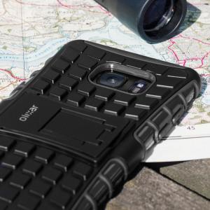 Gracias a esta funda ArmourDillo podrá proteger de golpes y arañazos su Samsung Galaxy Note 7. Su interior está fabricado de un conocido material llamado TPU mientras que su exterior es de policarbonato. Además incluye función de soporte de visualización multimedia.