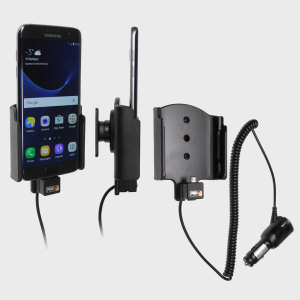 Charge and use your Samsung Galaxy S7 Edge in your vehicle with this Brodit active holder with tilt swivel. Conveniently docking your phone, the Brodit Active Holder allows you to use heavy battery consuming apps while you drive.