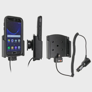 Charge and use your Samsung Galaxy S7 in your vehicle with this case compatible Brodit active car holder, complete with tilt swivel. This allows you to keep your S7 well protected whilst fully charged.