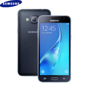 Unlocked 8GB Samsung Galaxy J3 2016 in black. With a 5 inch display featuring a 720 x 1280 resolution, 8MP camera and running Android 5.1 - this Samsung smartphone is ready for anything you can throw at it!