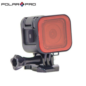 The PolarPro Snorkel filter for the GoPro Hero4 Session enhances your video when filming underwater by correcting the camera's auto white balance, which can make the image too blue or green. The scuba filter is also extremely easy and quick to install.