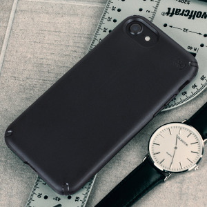 Meet the Speck Presidio - the evolution of the popular CandyShell case. An ultra-rugged black case made from two different protective layers for the iPhone 8 / 7 from Speck. Features enhanced drop protection, superior matte finish and reduced bulk.