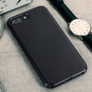 Meet the Speck Presidio - the evolution of the popular CandyShell case. An ultra-rugged black case made from two different protective layers for the iPhone 7 Plus from Speck. Features enhanced drop protection, superior matte finish and reduced bulk.