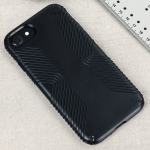 Meet the Speck Presidio Grip - the evolution of the popular CandyShell Grip case. An ultra-rugged black case made from two different protective layers for the iPhone 8 / 7 from Speck. Features enhanced drop protection and a superior matte finish.