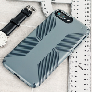 Speck Presidio Grip - the evolution of the popular CandyShell Grip case. An ultra-rugged grey case made from two different protective layers for the iPhone 7 Plus from Speck. Features enhanced drop protection, superior matte finish and reduced bulk.