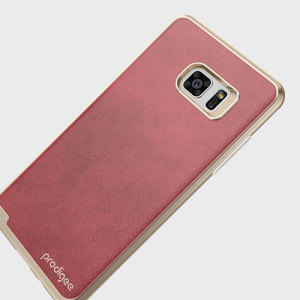 Protect your Samsung Galaxy Note 7 with this elegant textured back case from Prodigee in red. This stylish case features mark-resistant and shock absorbing qualities, excellent grip and built-in button covers.