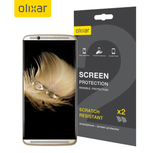 Keep your ZTE Axon 7's screen in pristine condition with this Olixar scratch-resistant screen protector 2-in-1 pack.