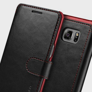 The Verus Dandy Wallet Case in black for the Samsung Galaxy Note 7 comes complete with card slots, a large document pocket and is made with a luxurious leather-style material for a classic, prestige and professional look.