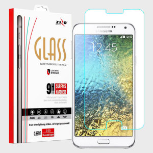 Made from high quality tempered glass, the Zizo Lightning Shield provides crystal clear, responsive protection for your Samsung Galaxy E5. Easy to apply, the bubble-free installation takes a matter of seconds, making for a quick and easy application.