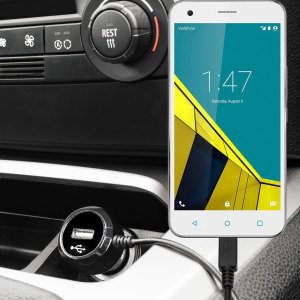 Keep your Vodafone Smart Ultra 6 fully charged on the road with this high power 2.4A Car Charger, featuring extendable spiral cord design. As an added bonus, you can charge an additional USB device from the built-in USB port!