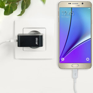 Charge your Samsung Galaxy Note 5 and any other USB device quickly and conveniently with this compatible 2.4A high power micro USB EU charging kit. Featuring an EU wall adapter and micro USB cable.