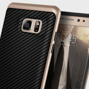 Caseology Envoy Series Samsung Galaxy Note 7 Case - Carbon Fibre Black