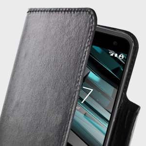Wrap your Vodafone Smart Platinum 7 in luxurious, sophisticated protection with the black Olixar Leather-Style Wallet Stand Case. This stylish case has credit card slots and can transform into a convenient viewing stand which rotates.