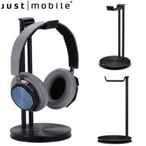 Introducing the Just Mobile HeadStand in black. Keep your desk and work space clean and tidy with this premium headphones stand.