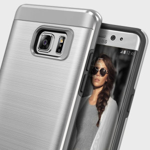 Protect your Samsung Galaxy Note 7 with this ultra slim case in titanium silver, which protects as well as providing a stunning full body protection in an attractive hybrid layered design.
