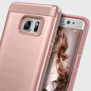 Protect your Samsung Galaxy Note 7 with this ultra slim case in rose gold, which protects as well as providing a stunning full body protection in an attractive hybrid layered design.