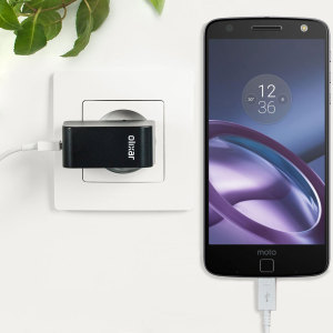 Charge your Motorola Moto Z and any other USB device quickly and conveniently with this compatible 2.4A high power USB-C EU charging kit. Featuring an EU wall adapter and USB-C cable.