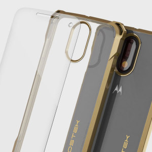 Ghostek Covert Moto G4 Plus Bumper Case - Clear / Gold