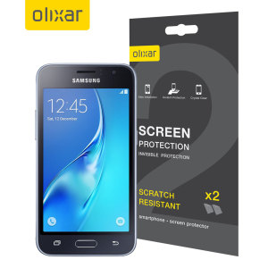 Keep your Samsung Galaxy J1 2016's screen in pristine condition with this Olixar scratch-resistant screen protector 2-in-1 pack.