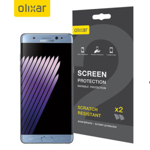 Keep your Samsung Galaxy Note 7's screen in pristine condition with this Olixar scratch-resistant edge-to-edge TPU screen protector 2-in-1 pack. Ultra responsive and easy to apply, these protectors are the ideal way to keep your display looking brand new.