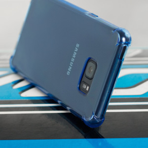 Custom moulded for the Samsung Galaxy Note 7. This blue Olixar ExoShield case provides a slim fitting stylish design and reinforced corner shock protection against damage, keeping your device looking great at all times.