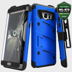 Equip your Samsung Galaxy Note 7 with military grade protection and superb functionality with the ultra-rugged Bolt case in blue and black from Zizo. Coming complete with a tempered glass screen protector, handy belt clip and integrated kickstand.