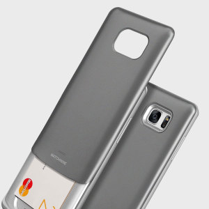 Designed for the Samsung Galaxy Note 7, this metallic grey coloured dual layered card case from Matchnine provides a perfect fit and durable protection against scratches, knocks and drops with the added convenience of a credit card-sized sliding slot.