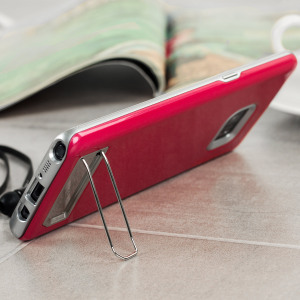 Designed for the Samsung Galaxy Note 7, this deep pink dual layered stand case from Matchnine provides a perfect fit and durable protection against scratches, knocks and drops with the added convenience of a built-in metal stand module.