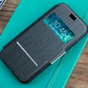 The Moshi SenseCover for the iPhone 8 / 7 in Charcoal Black is a unique case with a touch sensitive cover that allows you to quickly view the time/date as well as answering calls without the need to open the case.