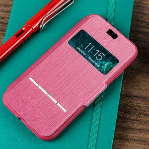 The Moshi SenseCover for the iPhone 8 / 7 in Rose Pink is a unique case with a touch sensitive cover that allows you to quickly view the time/date as well as answering calls without the need to open the case.