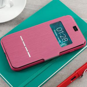 La housse Moshi SenseCover rose pink pour iPhone 8 Plus / 7 Plus est tout simplement unique et vous permet en un instant grâce à la technologie SenseCover intelligente de visualiser l'heure, la date et de répondre aux appels entrants sans avoir à ouvrir le rabat de protection.