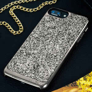 Add a touch of bling to your iPhone 7 Plus, whilst keeping it well protected with the black and silver Fancee Glitter Case from Prodigee. Slim, light and incredibly attractive, this dual-layer case really does have it all and is screen protector friendly.