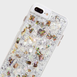 Ultra slim protection for your iPhone 7 with the Case-Mate Karat case. Combining genuine Mother of Pearl with a transparent design, this case is perfect to add the fashion factor to your iPhone.