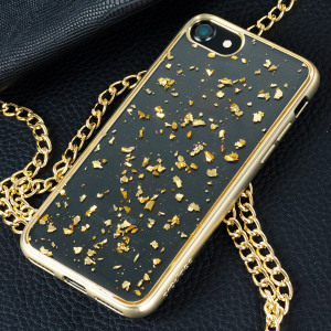 Prodigee Scene Treasure iPhone 7 Case - Gold Sparkle
