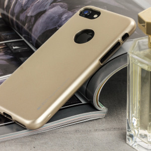 A premium gel case for your iPhone 7. The Mercury Goospery iJelly features a superb gold gloss UV finish and robust high quality TPU gel material that will take all the knocks and look fabulous while doing so.