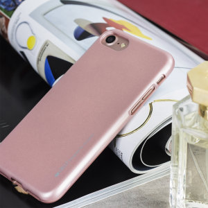 A premium gel case for your iPhone 7. The Mercury Goospery iJelly features a superb rose gold gloss UV finish and robust high quality TPU gel material that will take all the knocks and look fabulous while doing so.