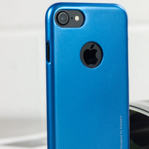 A premium gel case for your iPhone 7. The Mercury Goospery iJelly features a superb blue gloss UV finish and robust high quality TPU gel material that will take all the knocks and look fabulous while doing so.
