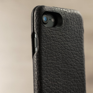 Funda iPhone 7 Vaja Ivo Top Premium de Cuero con Tapa - Marrón Oscura