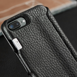 Funda iPhone 7 Plus Vaja Agenda MG de Cuero - Negra