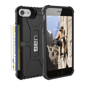 Equip your iPhone 7 with extreme, military-grade protection and storage for up to 4 cards with the Trooper Tough Wallet case in black from UAG. Impact resistant and functional this is the ideal way of protecting your phone and providing storage.