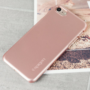 Durable and lightweight, the Spigen Thin Fit series for the Apple iPhone 7 offers premium protection in a slim, stylish package. Carefully designed the Thin Fit case in rose gold is form-fitted for a perfect fit.