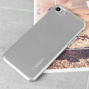 Durable and lightweight, the Spigen Thin Fit series for the Apple iPhone 7 offers premium protection in a slim, stylish package. Carefully designed the Thin Fit case in satin silver is form-fitted for a perfect fit.