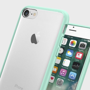 Protect your iPhone 7 with the unique Ultra Hybrid mint green bumper from Spigen. Complete with a clear back and air cushion technology to show of and protect your iPhone's sleek modern design.